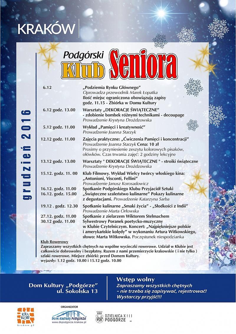 DK Podgórze miejscem przyjaznym dla seniorów
