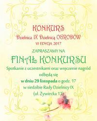 """Finał konkursu """"Dzielnica 9 dzielnicą ogrodów"""""""