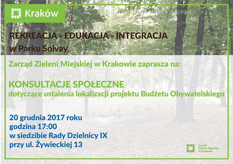 Konsultacje w sprawie lokalizacji projektu BO w Parku Solvay